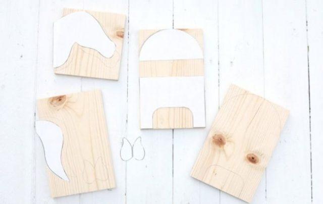 Бумажные лекала используются для изготовления деталей полки