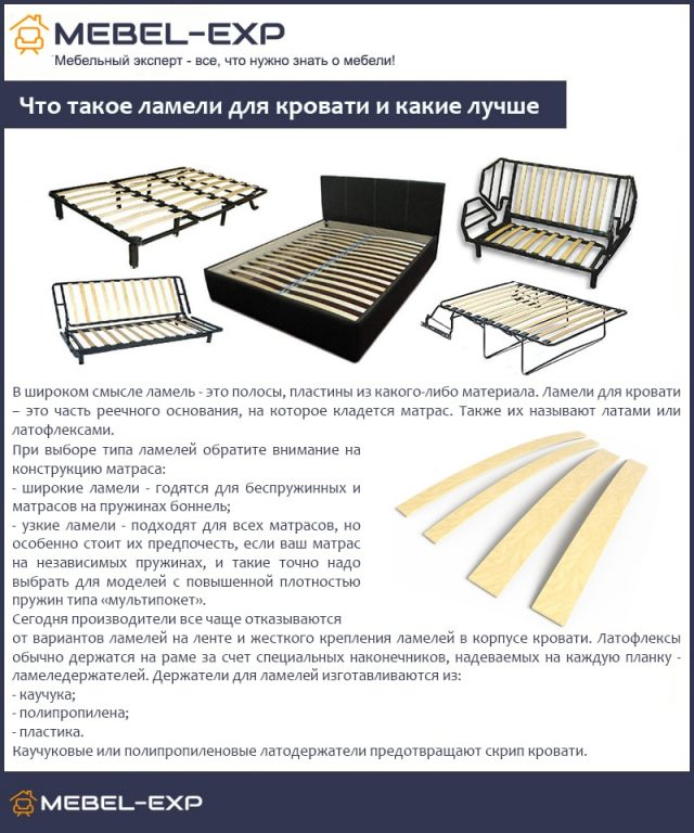 Что такое ламели для кровати и какие лучше
