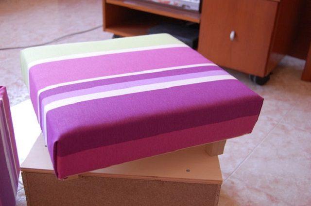 Обтяжка крышки тканью