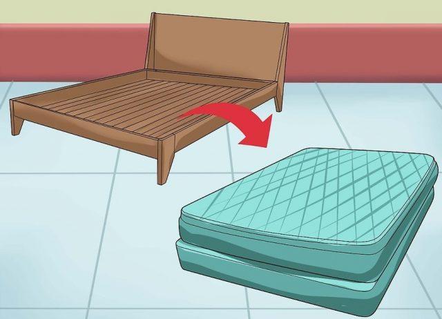 Снимите матрас с кровати