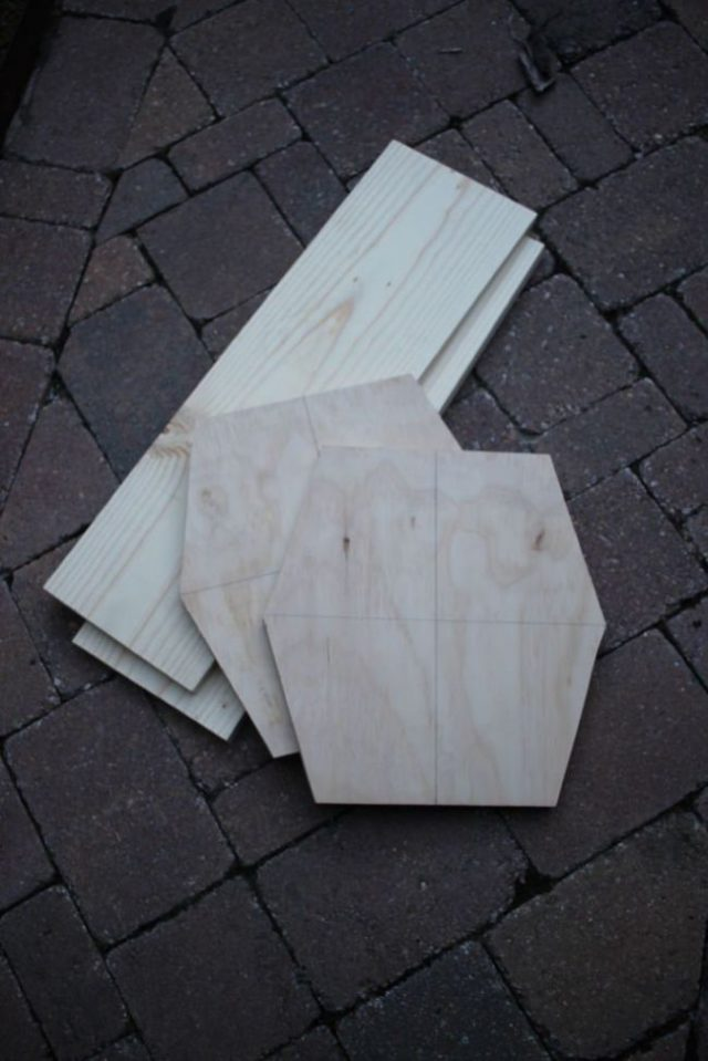 Вырезанные шестиугольники