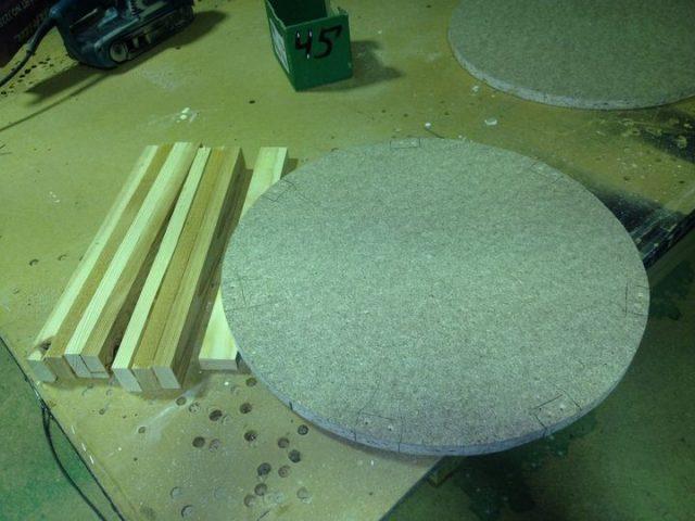 Заготовки для каркаса пуфика