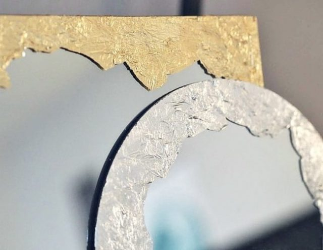 Декор зеркала фольгой