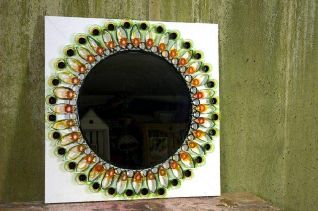 Как красиво украсить зеркало