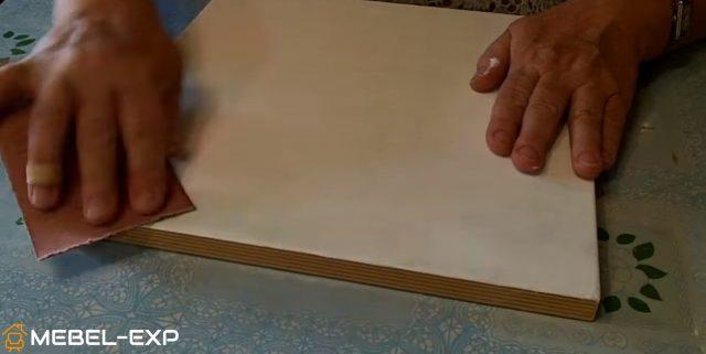 Повторная шлифовка наждачной бумагой