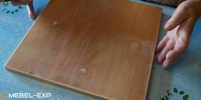 Шлифовка сидения табурета