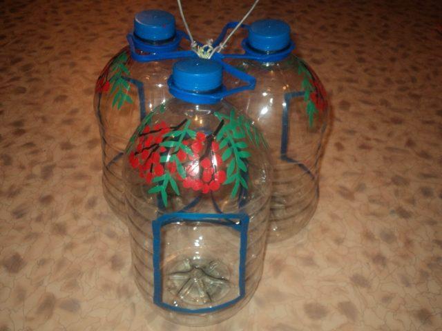 Кормушки для птиц из ПЭТ бутылей