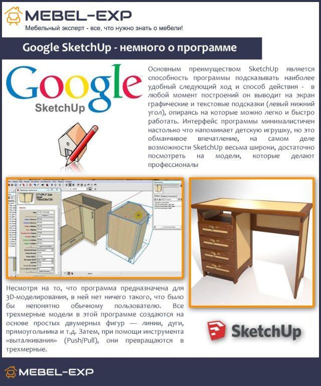 Google SketchUp - немного о программе