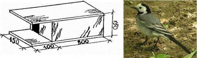Skvorechnik-dlya-tryasoguzok-640x188 Как сделать скворечник своими руками – 7 мастер-классов чертежи!